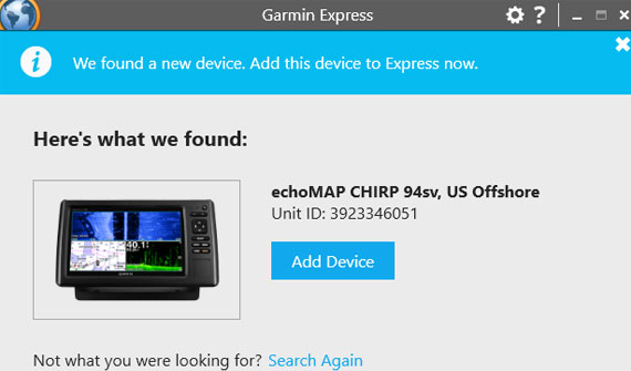 How can you Register a Garmin Device
